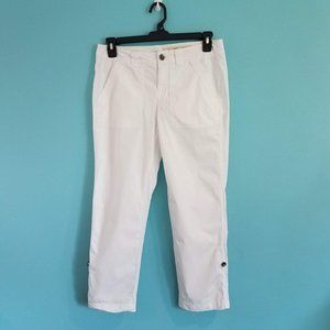 DKNY Jeans White Light Weight Cropped Pants, 6